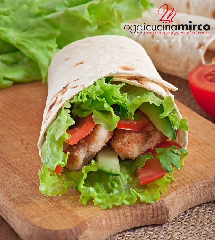 tortillas wrap semplici con pollo