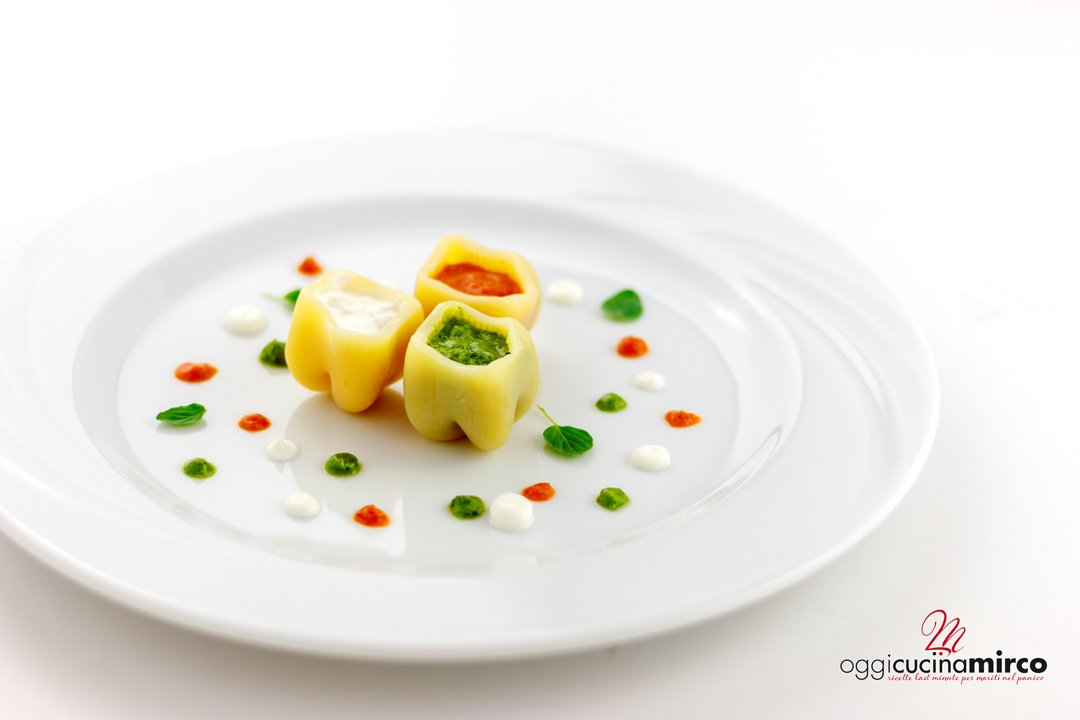 finger food fatto con la pasta